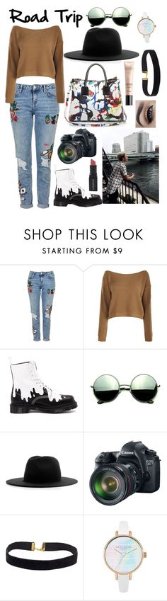 """Road Trip; Namjoon"" by got7-bangtan-style ❤ liked on Polyvore featuring Topshop, Boohoo, Dr. Martens, Revo, Études, Eos, Smashbox and Milly"