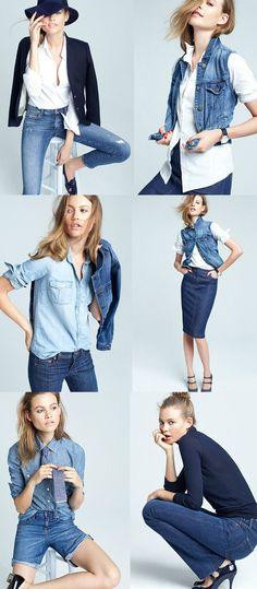 J.Crew denim   #fashionphotography #lookbook #posing