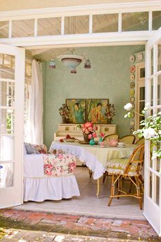 My own space? or a seperate place to entertain ~ love the windows and french door.