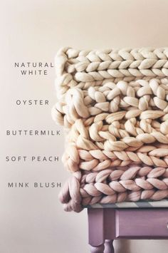 Handmade Chunky Knit Blankets | LaurenAstonDesigns on Etsy