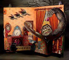 Jan Pienkowski Haunted House Children's Pop-Up Book pg 3 | Flickr - Photo Sharing!