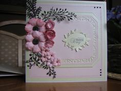 Card usisng Sue Wilson Noble squares noble adorning rectangles and various flower dies