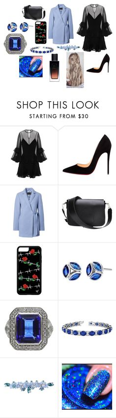"""""""Sans titre #2246"""" by heartss-13 ❤ liked on Polyvore featuring Alex Perry, Christian Louboutin, Allurez, Sretsis and Yves Saint Laurent"""