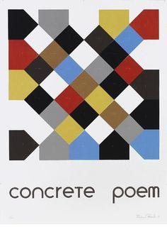 concrete poem Richard Peacock