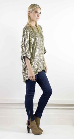 A gorgeous hand beaded silk sequin top  #halcyonstate