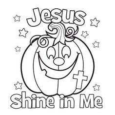 Jesus Shine In Me Coloring Picture. For Halloween. Jesus Shine In Me Coloring Picture. For Halloween.