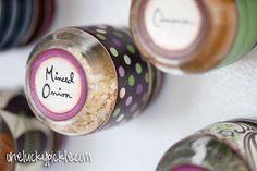 DIY Baby food jars into magnetic sprice jars!!!
