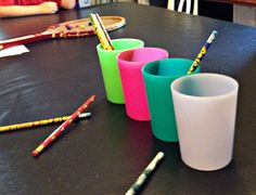 Minute to Win It Family Games! pencils in a cup