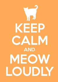 Keep Calm and Meow Loudly  =^,,^=