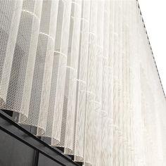 457 Likes, 1 Comments - adi purnomo (Adi Purnomo) . Parking Building, Building Facade, Facade Pattern, Retail Facade, Building Skin, Facade Lighting, Expanded Metal, Facade Design, Facade Architecture