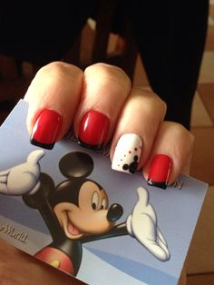 Disney nails! Done by Yen @ Lucky Nails, Westfield, MA.