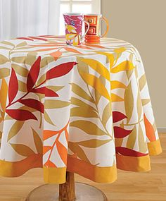 Table cover with colors of folliage in bright sunshine to brighten up your dining table. Rs 1199/- http://www.tajonline.com/gifts-to-india/gifts-HAP397.html?aff=pint2014/