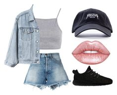 """""""Untitled #947"""" by arianas12 ❤ liked on Polyvore featuring Off-White, adidas Originals, Lime Crime and Gap"""