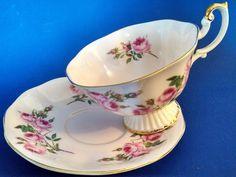 Royal Albert Bone China Teacup & Saucer. Un-Named Pattern. Pink Roses. England #RoyalAlbert