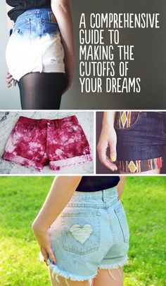 Love the red bleach splattered ones // A Comprehensive Guide To Making The Cutoffs Of Your Dreams