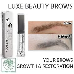 Restore your brows! Extra strong formula LUXE Beauty BROWS treats over-plucked/ aging / very damaged brows 💜 Check out LUXE Beauty BROWS at our at website ➡ www.hairbodymind.com 20% off with coupon 20EXTRA💜or Click a link in a bio 🤗✔ 💜The Peptide Complex used in our eyelash and brow growth products is made up of beneficial amino acids, which are designed help stimulate dormant follicles to grow. Peptides are chains of amino acids, which are the building blocks for the proteins our body…