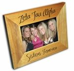 Our New Zeta Tau Alpha picture frame design has fast become our biggest seller! Customizable to Zeta Tau Alpha, you also get a 2nd line of customizable engraved text to commemorate that special event. Sorority initiation, a special formal or recruitment event - or just for a group picture of you and your Zeta Tau Alpha sisters! These sorority frames make incredible gifts. Below we have shown samples of our most popular sororities! Click to see all of our Sorority Picture Frames!