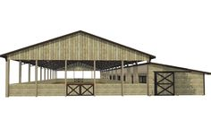 Canyon Arena & Stables Kit - Covered Riding Arena/Barn Combo - DC Structures