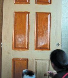 Re Finishing A Fiberglass Door Staining Kits And Tips