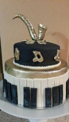 Fiftieth Birthday On Pinterest Music Cakes Saxophone