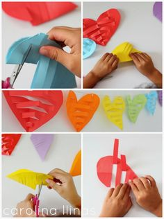 Paper quilling idea for kids Mothers Day Crafts For Kids, Valentine Crafts For Kids, Valentines Day Decorations, Fun Crafts For Kids, Valentines Diy, Hobbies And Crafts, Diy And Crafts, Valentines Bricolage, Paper Crafts Origami