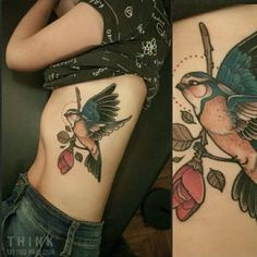 Bird Tattoos for Women Body Art Tattoos, New Tattoos, Girl Tattoos, Tatoos, Traditional Tattoo Bird, Bird Tattoos For Women, Think Tattoo, Black Bird Tattoo, Sparrow Tattoo