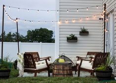 How to Decorate a Small Patio   blesserhouse.com - Utilize a small patio space with chairs at each corner and a fire pit in the middle for function and entertainment. Add outdoor string lights for a cozy ambience.