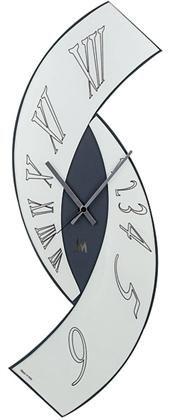 Arti & Mestieri clock Esse. Kleur Jeans, Zilvergrijs, Zwart. Afmeting: 80,0 x 30,0 cm. € 185.00 Unique Wall Clocks, Wood Clocks, Diy Clock, Clock Decor, Dry Skin On Feet, Pallet Clock, Funky Decor, Wall Watch, Laser Art