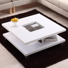 Hokku Designs Bella Two Tier Coffee Table in White - LOVE this!