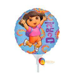 Balão Dora Tamanho: 09 polegadas e Easyfill para decoração de mesa e lembrancinhas Contate nos: www.balaocultura.com.br