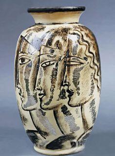 ceramic Rene Buthaud vase