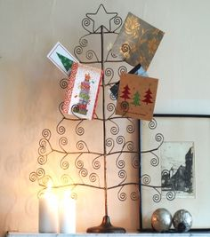 Our very festive yet industrial Christmas tree card holder will be ...
