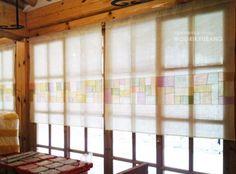 고객님께서 가리개를 주문하시구 인테리어하신 사진을 보내주셨어요... 남산에 있는 고급 음식점으로 알고... Fabric Art, Fabric Crafts, Fabric Design, Fiber Art Quilts, Korean Traditional, Fabric Manipulation, Easy Sewing Projects, Fabric Shades, Window Coverings