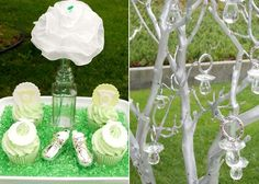 Baby Shower Decor: Tree with Pacifiers