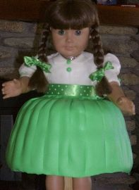 As far as I know I am the only one to have made an American Girl cake with a short dress.