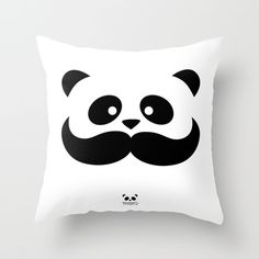 Buy Moustache Panda Hug by pmbq as a high quality Throw Pillow. Worldwide shipping available at Society6.com. Just one of millions of products available.