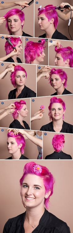 A vintage-inspired victory roll tutorial for short hair! #diy #beauty