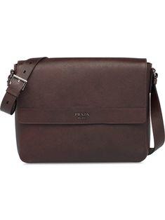 74198759ff19 PRADA PRADA SAFFIANO LEATHER SHOULDER BAG - BROWN.  prada  bags  shoulder  bags  leather