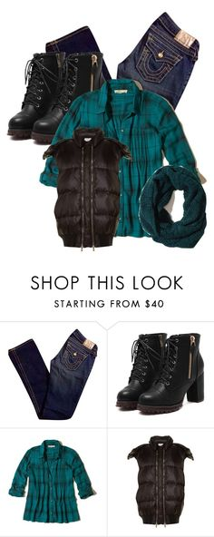 """Teal scarf"" by im-karla-with-a-k ❤ liked on Polyvore featuring True Religion, Hollister Co. and STELLA McCARTNEY"