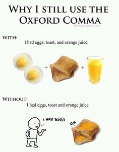 The Oxford comma. #funny #grammar #humor