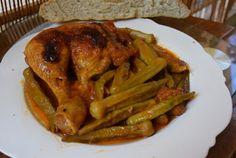 Μπάμιες με κοτόπουλο στο φούρνο και ψωμάκι !!! ~ ΜΑΓΕΙΡΙΚΗ ΚΑΙ ΣΥΝΤΑΓΕΣ 2