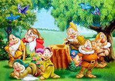 Snow white and the seven dwarfs Disney Pixar, Arte Disney, Disney Cartoons, Disney Art, Disney Characters, Disney Best Friends, Disney Love, Cartoon Gifs, Cute Cartoon