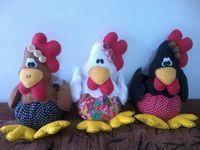Bonecas e fuxicos: Molde e passo á passo da galinha peso de porta