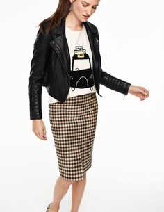 """""""This skirt is just fab. It also comes in green, which would be perfect teamed with a denim or pale blue shirt tucked in. I love wearing this skirt in a way you wouldn't expect… So add a trainer!"""" Sarah, the Boden stylist. #NewBritish"""