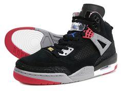 Air Jordan Spizike - Black / Varsity Red - Cement Grey - Military Blue