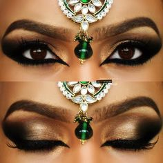 Neutral Arabic Wedding Makeup