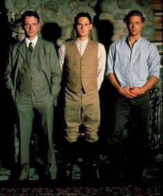"Men:  Aidan Quinn, Henry Thomas, Brad Pitt, ""Legends of the Fall."""