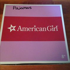 SOLD in a BUNDLE American Girl Pajama set. This Oh-soooo-cute Pajama set is for an American Girl Doll. Come complete with a set of pj pants, top with thermal sleeves, slippers, pony hair ties and a hanger. (Complete in box w/tissue Other