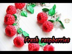 "(43) CrazyKet:Малиновый браслет ""Fresh raspberries"" ❤️ Полимерная глина/Polymer Clay ❤️ Мастер-класс/DIY - YouTube"