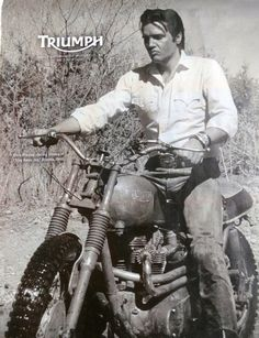 ELVIS PRESLEY om his TRIUMPH dirt bike